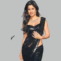 Katrina Black Saree