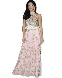 Katrina Kaif Pink Floor Length Skirt/blouse