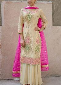 Ladies Embroidered Silk Suits