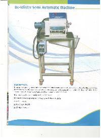 De Blister Semi Automatic Machine