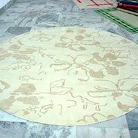 Round Floral Rug