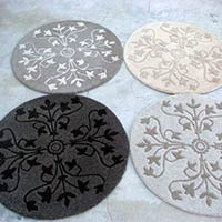 Round Hand Tufted Carpet
