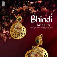 Designer Gold Earrings