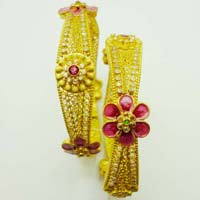 Gold Desiner Bangles