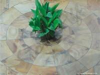 Sandstone Paving Medallion Tiles