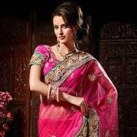 Pink Wedding Saree