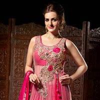 Royal Pink Net Wedding Dresses, Red Wedding Dresses