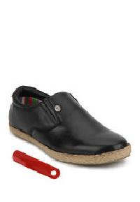 Black Loafers Leather Shoes