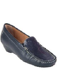 Blue Loafers Leather Shoes