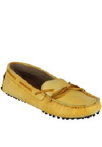 Yellow Loafers Leather Shoes