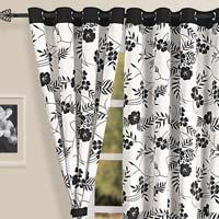Eylet Print  Curtain