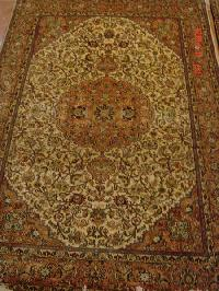 Traditional Hand Knotted Natural Silk Carpets