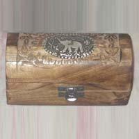 Wooden Half Round Jewellery Box
