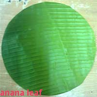 Banana Leaves, Cutted Banana Round Leaf