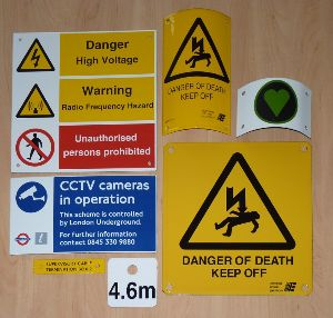 Buy Danger Sign Plates from K D  Pandey & Bros, Ghaziabad