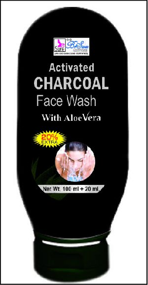 Besure Aloe Vera Activated Charcoal Face Wash-100 Ml