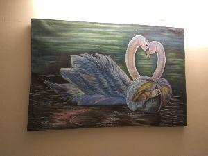 Swan Oil Painting
