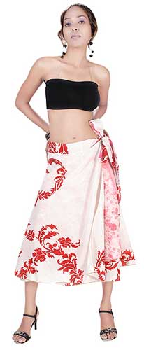 100% Silk Sari Wrap Skirts Vsws-04