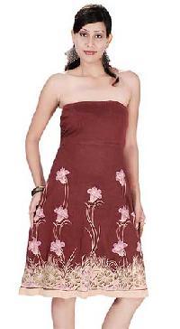 Cotton-hand-block-bustier-dress