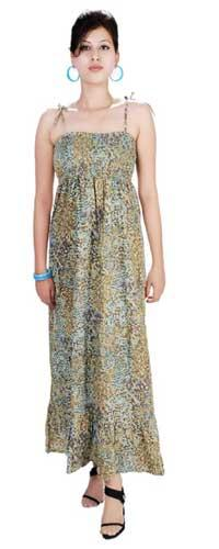 Cotton Hand Sequenced Bustier Dress