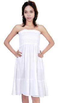 Cotton Ladies Bustier Dress