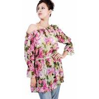 Cotton Off Shoulder Ladies Blouse(code :- D-619)