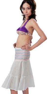 Cotton Short Bustier Dress(code :- D-586)