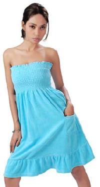 Cotton Terry Cloth Bustier Dress(code :- D-603)