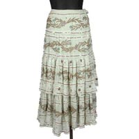 Georgette Bandhani Embroidered Hand Brush Painted Skirt- Code- Sk-14