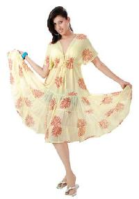 Georgette-hand-block-printed-dress