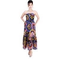 Printed-chiffon-bustier-dress