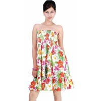 Printed Cotton Bustier Dress