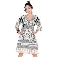 Printed-cotton-v-neck-dress
