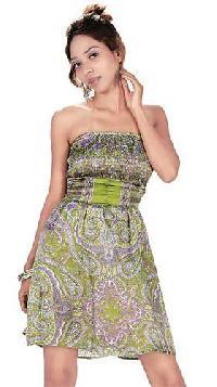 Satin Blend Bustier Short Dress