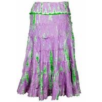 Silk Habutai Embroidered Tie Dye Skirt