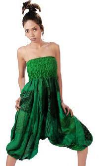Vintage Sari Patch Bustier Dress Lec-32a