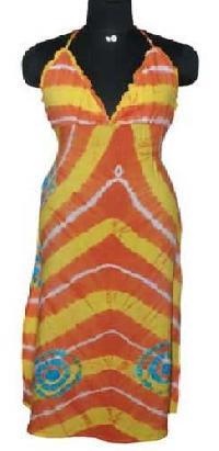 Viscose-Rayon-Hand-Tie-Dye-Halter-Dress