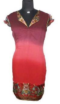 Viscose-Rayon-Ombre-Hand-Tie-Dye-Dress