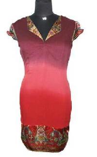Viscose Rayon Ombre Hand Tie Dye Dress