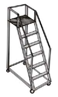 Aluminium Trolley Steps Ladder