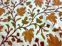 Crewel Embroidered Fabric- Cf - 03