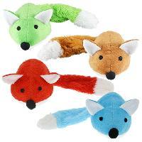 Colorful Plush Fox Dog Toys