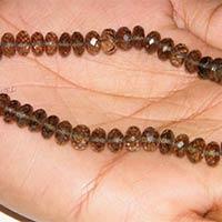 Smoky Quartz Faceted Rondelle Beads