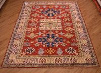 2.92x2.10m Fine Afghan Kazak Carpet