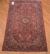 2.13x1.33m Semi Antique Kashan Rug