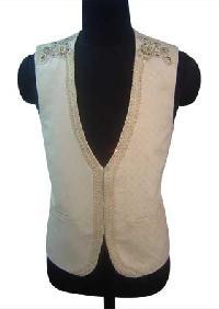 Designer Waist Coat - (subtle Embd. V. Coat)