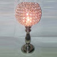 Candle Holder With Crystal