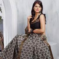 Cut Work Silk Saree