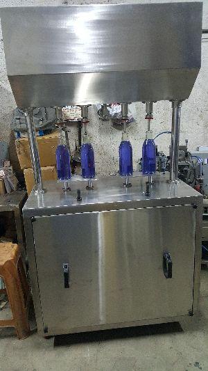 Semi Four Head Liquid Paste Filling Machine