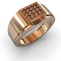 Gents Diamond Studded Ring